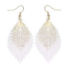 Designer Inspired Boho Leaf Dangle Earrings