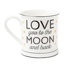 I LOVE YOU to the Moon E Indietro Stelle Oro Bianco Tazza Tè Caffè Colazione Regalo