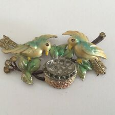 Vintage Two Birds with Nest Pin Brooch, no markings