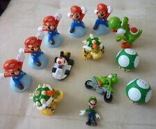Super Mario Figure 13 Piece Lot - Mario Luigi - Toad - Yoshi +