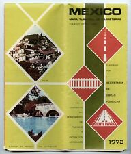 Mexico Tourist Road Map (Mapa Turistico de Carreteras), 1973