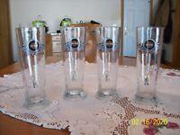 Harley Davidson Set Of 4 Rastal 0.5 Liter Tall Handled Tankard Glass Beer Mugs