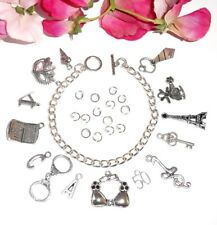 MAKE YOUR OWN 'Fifty Shades of Grey' Themed CHARM BRACELET (A)