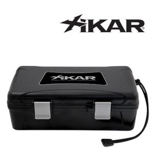 NEW Xikar - Travel Humidor Case - Black - 10 Cigar Capacity