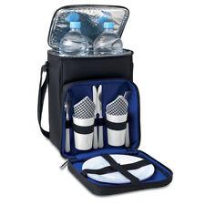 Picknick Tasche mit Kühlfach Geschirr Besteck Gläser 2 Personen Campingtasche