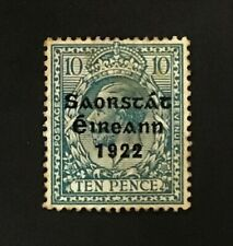 IRELAND KGV 10d. blue & 1922 Free State ovpt MH CV £35