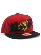 New Era Iron Man 9fifty Snapback Hat Adjustable Mark 42 Movie Armor Marvel Red