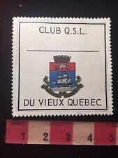 Vintage QSL CLUB DU VIEUX QUEBEC CANADA Amateur Radio Patch 81D2