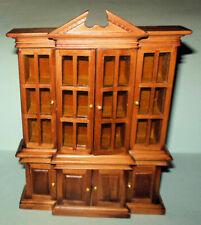 Breakfront Walnut #7809 Dollhouse Furniture