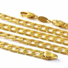 Popular yellow Gold Filled Men's Curb Chain Link Necklace For Pendant Drops