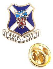 Scotland + Saltire Flag & Lion Rampant Enamel Lapel Pin Badge T1081