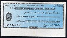 BANCA DI TRENTO E BOLZANO 30/11/1976 UNI.COMM.TURISMO BZ/PAPER MONEY FDS/UNC