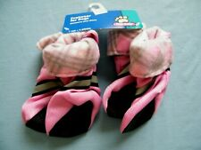Top Paw Footwear for Dogs Reflective Pink Fleece Lined Booties Size Large