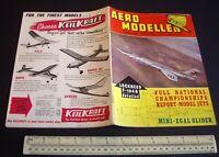 Vintage Aeromodeller Magazine (Aug 1962) DC Bantam 0.76cc. Rogallo Wing. F-104