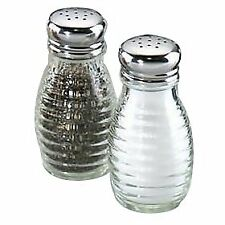 Beehive Glass Salt and Pepper Shakers with Stainless Steel Tops (Set of 2)