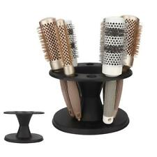New Women Salon Hair Styling Brush Massage Comb Mirror Set With Stand Holder
