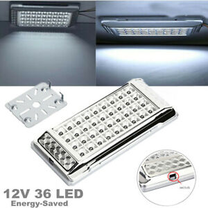 12V 36 LED Car RV Vehicle Interior Dome Light Roof Ceiling Lamp Kit Energy-saved