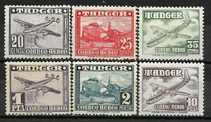 """SPANISH MOROCCO """" TANGER """" 1948 Complete set 6 new stamps**. Air Mail    (7828)"""