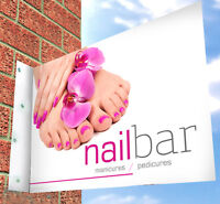 Nail Bar PAVEMENT SIGN, Wall Sign, ADVERTISING STREET DISPLAY, A-Board, Banner