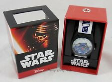 New Disney Star Wars The Force Awakens R2-D2 Droid Wrist Watch Rubber Wistband