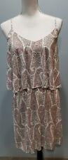 Old Navy Women's Dress Paisley Tiered Size Medium Spaghetti Straps EUC -293