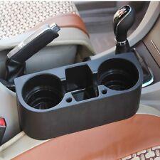 Universal Auto Car Seat Gap Slit 2 Cup Drink Holder Mount Storage Box Organizer