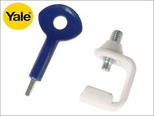 YALE 1 WINDOW STAY CLAMP WITH 1 LOCK KEY WHITE FINISH - P-121-WE - NEW