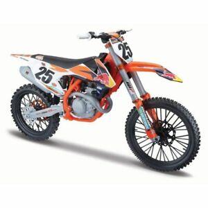 Neuf Ray Marvin Musquin KTM Sxf 450 1:6 Die Cast Motocross Jouet Modèle Orange
