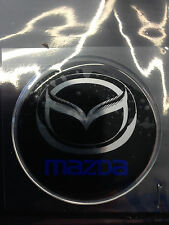 Adesivo coprimozzo ruota ruote centro cerchione in resina 3D Mazda Stemma Logo