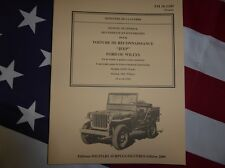 Technical Manual TM 10-1349 Jeep Willys / Ford de 1943 Truck Ww2 Militaria
