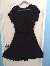PL Movement Faux wrap dress. Black 95% rayon/5% elastine dress up or down. L@@K