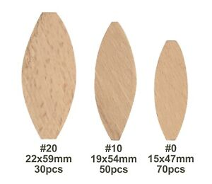 Brackit 150 Piece Jointing Biscuits Set – Beech Wood – Size 0,10,20 – In Case