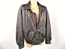 Savile Row Men's Size XL Vintage Brown Leather Bomber Jacket Lined Full Zip