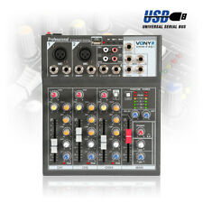 More details for 4 channel mixing desk echo +48v phantom, record out & usb stage bands