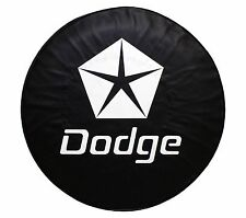 "15"" SPARE TIRE COVER DODGE BLACK HEAVY DUTY VINYL TIRE COVER(FITS: DODGE)"