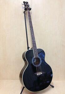 Dean EAB CBK Acoustic-Electric Bass,4-String,Black,EQ -Blemished