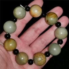 58mm Chinese hetian jade Jadeite hand-carved pendant necklace statue bracelet 17