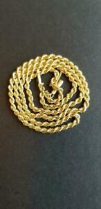 """14K GOLD ROPE CHAIN NECKLACE 18"""" 2.5MM 3.4GR*NR****************************NR"""
