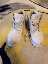 Timberland's Girls boots size 13 (kids) silver/ grey