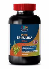 Pure Spirulina - Vitamin B1 - Blue Green Alage - Anti Inflammatory - 1 B 60 Ct