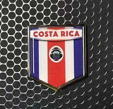 "Costa Rica Flag Domed CHROME Emblem Proud Flag Car 3D Sticker 2'x 2.25"""
