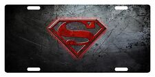 SUPERMAN LOGO CUSTOM LICENSE PLATE CAR MOVIE EMBLEM Silver Version