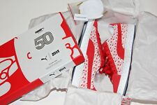 PUMA X HELLO KITTY SHOES RED  SUEDE WHITE 50 ANNIVERSARY US SIZE 9 WOMEN NIB