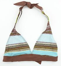 3b58ef37ee865 NEW Patagonia Water Girl Halter Bikini Top Womens S small brown stripe  72672 $49