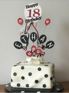 Cake Topper Personalised Balloon Birthday 1st 18th 21st 30th 40th 50th 60th etc