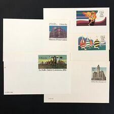 Lot of (5) Usps Postal Cards Mint Ux95 Ux97 Ux99 Ux100 Ux102