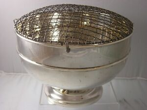 Victoria 1896 Fine Silver Huge Rose Bowl 1268 gram wonderful Heavy Gauge Silver