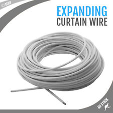 30m Net Curtain Wire 30 Meter Professional Quality 100ft Stretch Curtain Wire