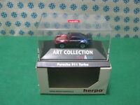 """Vintage - Porsche 911 Turbo """" Fire & Glace """" - H0 1/87 Herpa Art. Collection"""