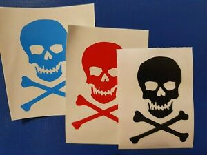 Skull and Crossbones Pirate VInyl Decal for phone tablet car Sticker